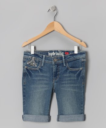 Melvin Blue Wash Flap-Pocket Bermuda Shorts