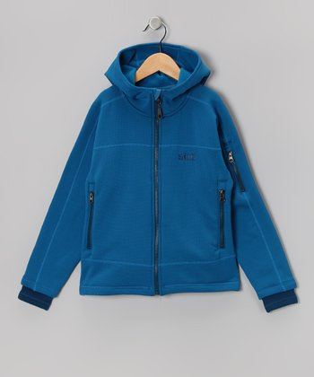 Blue Seeker Zip-Up Hoodie - Kids