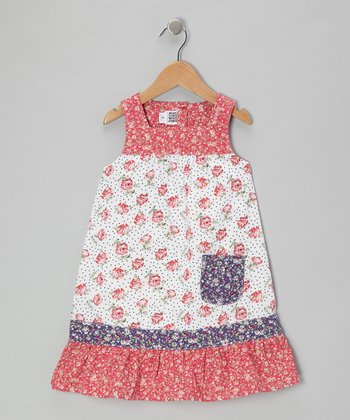 Pink Rose Pocket Dress - Toddler & Girls