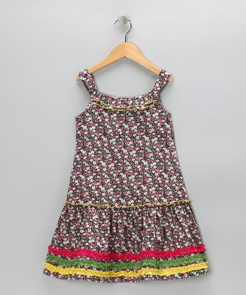 Pink Wildflower Sundress - Toddler & Girls