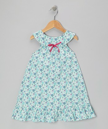 Teal Buttercup Yoke Dress - Toddler & Girls