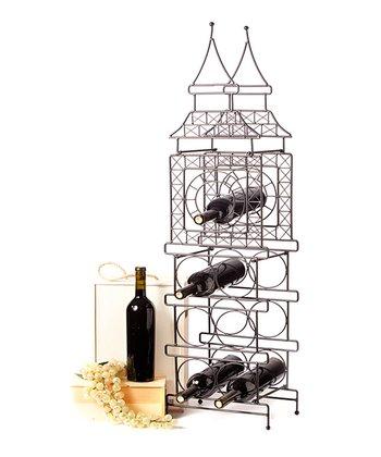 Matte Black Big Ben Short Wine Bottle Holder