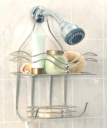 Chrome Wave Shower Caddy