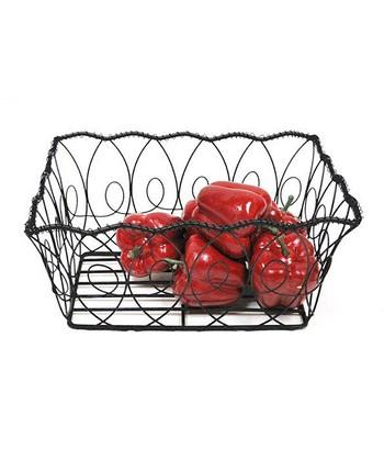 Black Wire Rectangle Basket