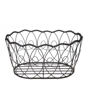 Black Wire Oval Basket