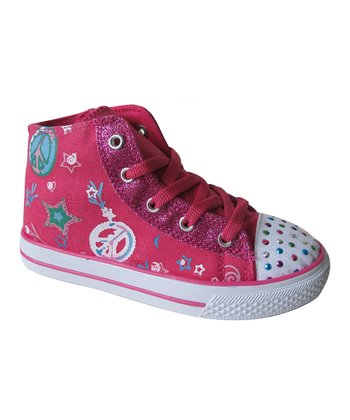 Fuchsia Dotty Hi-Top Sneaker