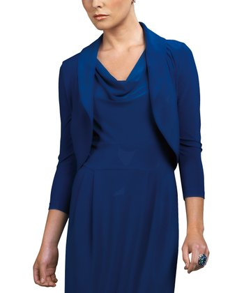 Midnight Blue Bolero - Women