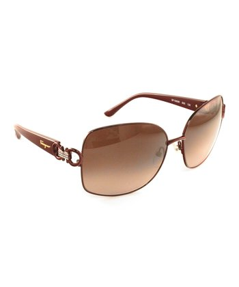 Shiny Bordeaux Frameless Sunglasses