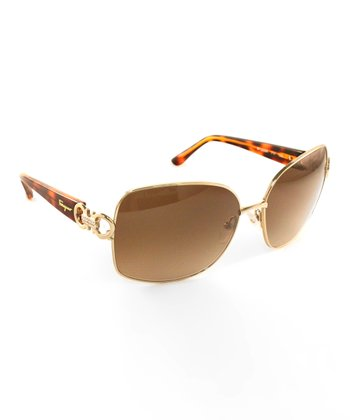 Shiny Gold Frameless Sunglasses