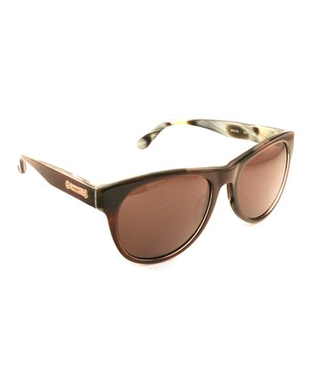 Brown Horn Marbled Sunglasses