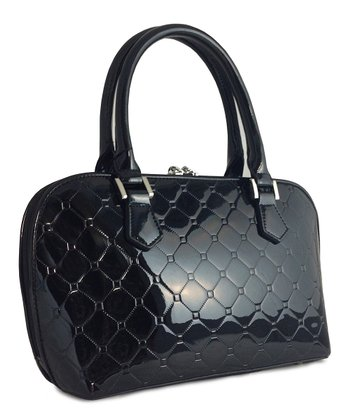 Black Reora Diamond Satchel
