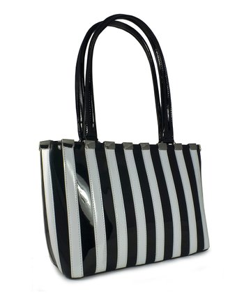 Black & White Medium Olivia Piano Tote