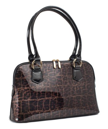 Brown Crocodile Dundee Tote