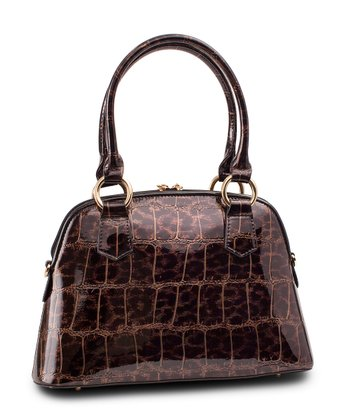 Leopard Crocodile Doloris Satchel