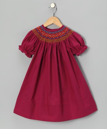 Magenta Bishop Dress - Toddler & Girls