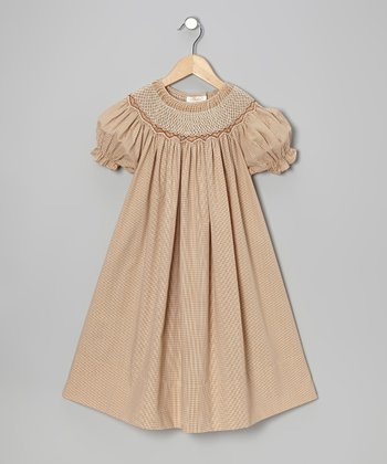 Beige Carla Bishop Dress - Infant, Toddler & Girls