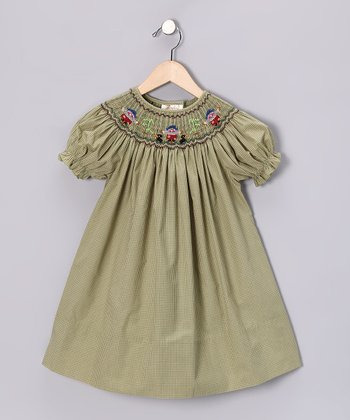 Olive Scarecrow Bishop Dress - Toddler & Girls