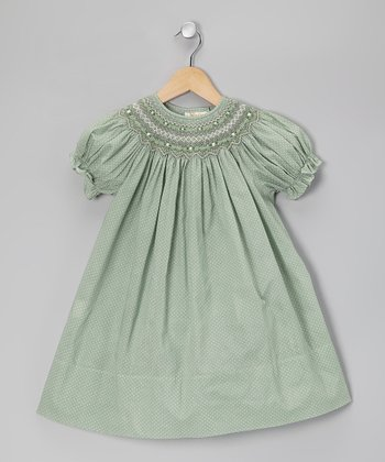 Mint Bishop Dress - Toddler