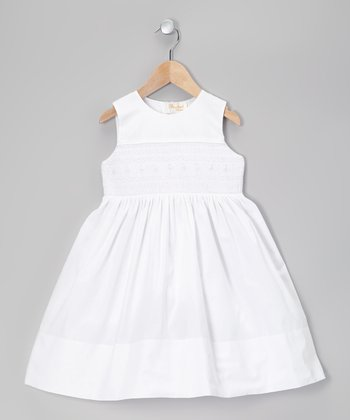 White Claire Embroidered Dress - Toddler & Girls