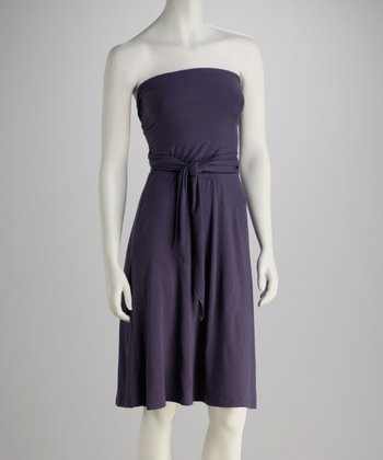 French Navy Convertible Dress