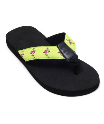 Green Flamingo Bop 13 Flip-Flop - Women