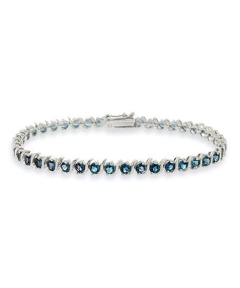 London Blue Topaz & Sterling Silver Tennis Bracelet