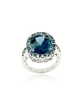 London Blue Topaz & Sterling Silver Cocktail Ring