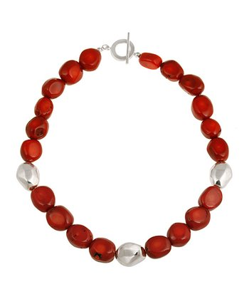 Red Sea Bamboo & Sterling Silver Toggle Necklace