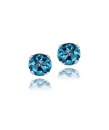 London Blue Topaz & Sterling Silver 3-mm Stud Earrings