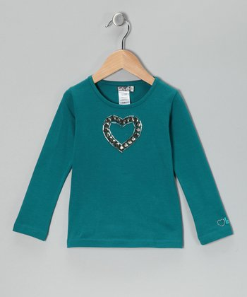 Turquoise Heart Tee - Toddler & Girls