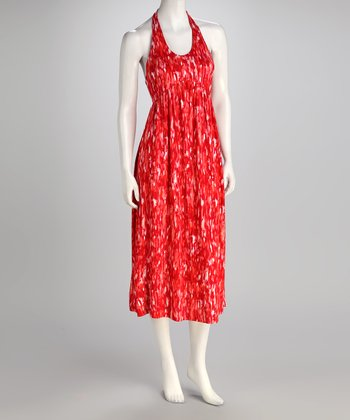 Red Scarlet Halter Dress