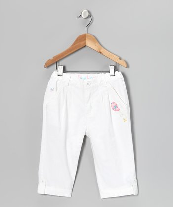 White Birdie Capri Pants - Girls
