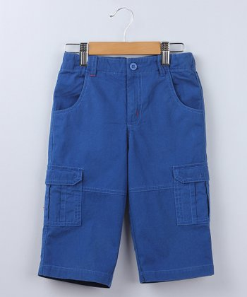 Blue Canvas Capri Cargo Pants - Boys