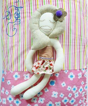 Sleeping Doll Plush Toy & 'Dream Team' Pillowcase