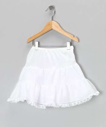White Lace Pettiskirt - Toddler & Girls