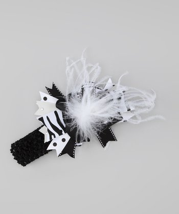 Black & White Zebra Headband