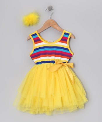 Yellow Stripe Tutu Dress - Infant & Toddler