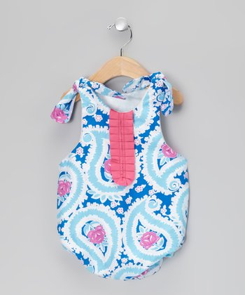 Blue Paisley Bubble Bodysuit - Infant