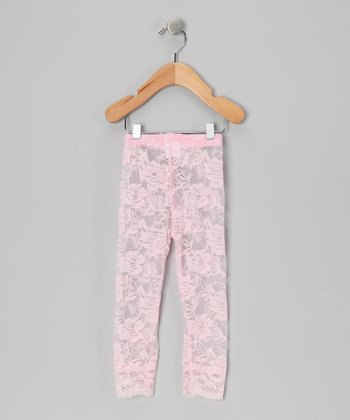 Pink Lace Leggings - Infant & Toddler