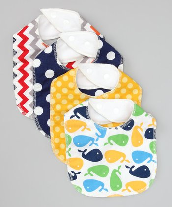 Whale of a Tail Organic Bib - Set of Four
