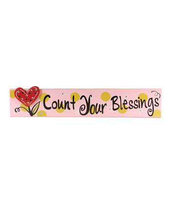 'Count Your Blessings' Wall Plaque