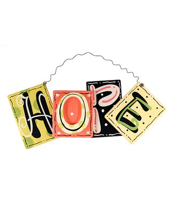 'Hope' Letter Block Wall Art
