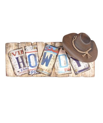 'Howdy' License Plate Wall Art