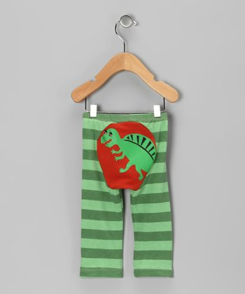 Red & Green Dino-Mite Stripe Pants - Infant & Toddler