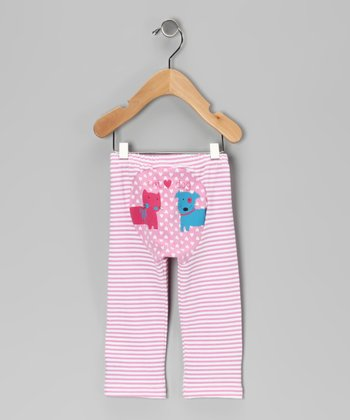 Pink Stripe Kitten & Pup Pants - Infant & Toddler