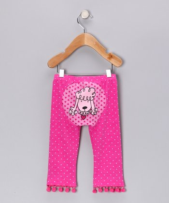 Pink Polka Dot Princess Poodle Pants - Infant & Toddler