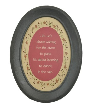 'Dance In the Rain' Oval Wall Art
