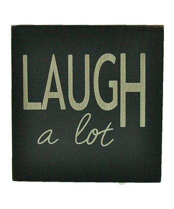 Blue 'Laugh a Lot' Wall Art