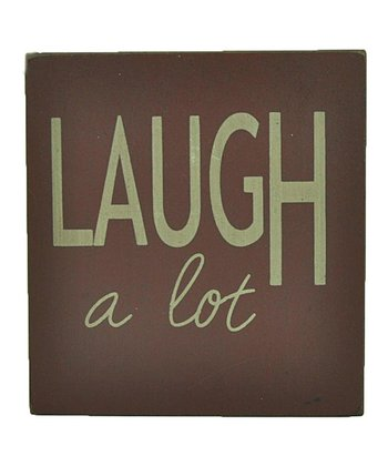 Red 'Laugh a Lot' Wall Art