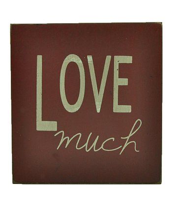 Red 'Love Much' Wall Art
